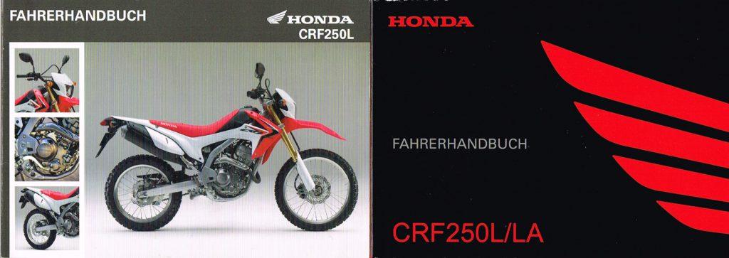 Bedienungsanleitung der Honda CRF250L-Modelle 2013 und 2017