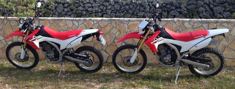 Zwei CRF250L aus 2013